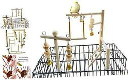 PINVNBY Bird Playground Parrot Play Gym Parakeet Cage Play S