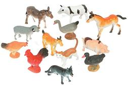Plastic Farm Animals   Party Accessory