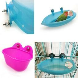 Plastic Food Water Bowl Bird Bath Feeder For Crates Cages Co