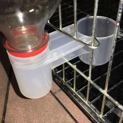Plastic Pet Bird Drinker Feeder Water Bottle Cup cat Chicken