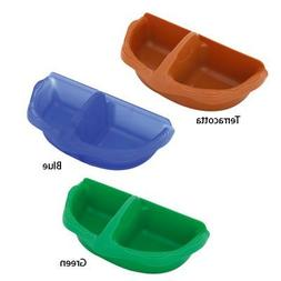 Vision Plastic Seed and Water Small Birds Cup, Terracota