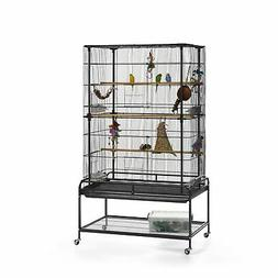 Prevue Pet Products Playtop Flight Cage with Stand F085 Blac