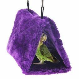 Pesp Plush Pet Bird Hut Nest Hammock Hanging Cage Happy Snug