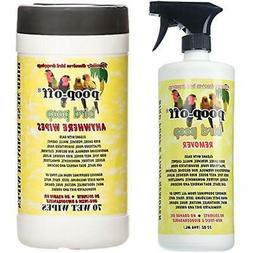 Poop-Off Bird Remover Spray Anywhere Cleaning Wipes, 32-Ounc