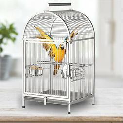 Portable Bird Cages Carrier Cockatiel Parrot Macaws Travel C