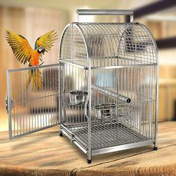 Portable Bird Cages Carrier Cockatiel Parrot Macaws Travel C