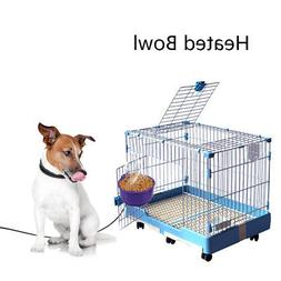 Portable USB Heated Pet Feed Bowl for Dog Cat Cat Bird Cage