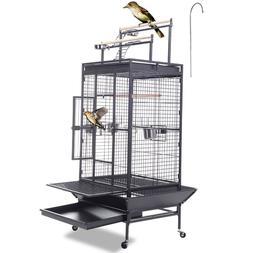 portable wood perch metal bird parrot pet