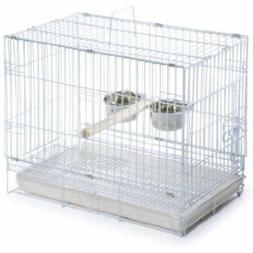 Birdcages Prevue Hendryx Travel Cage 1305 White, 20-Inch By