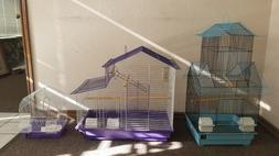 Prevue Cockatiel Parakeet Canary Bird Cages W/  Perches,Cups