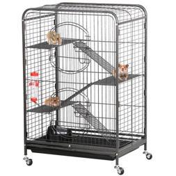 Prevue Hendryx Black Feisty Ferret Cage Black Hammertone