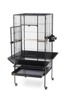 Prevue Hendryx Park Plaza Large Bird Cage w/ Casters; Black