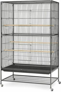 Prevue Hendryx Pet Products Wrought Iron Flight Cage Black H