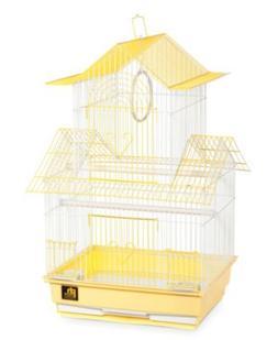 Prevue Hendryx Shanghai Parakeet Bird Cage; Yellow / White