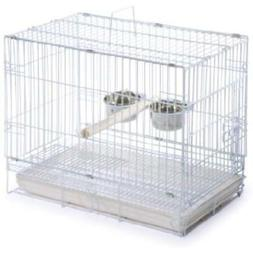 Prevue Hendryx Travel Bird Cage 1305 White, 20-Inch By 12-1/