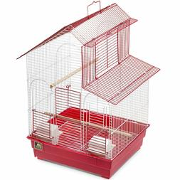 """Prevue House Style Parakeet Cockatiel Bird Cage 24""""H with 2"""