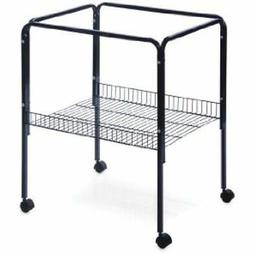 Prevue Pet Products Rolling Stand With Shelf, Black Birdcage