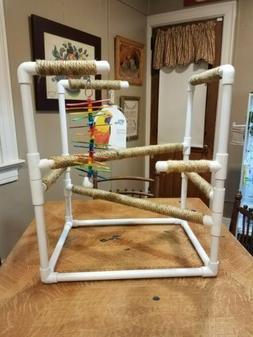 PVC Bird Playground/Play Gym Table Top Model - PVC construct