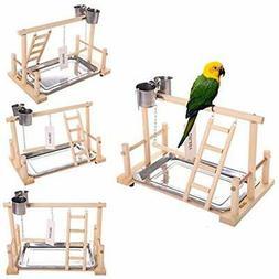 QBLEEV Bird&39s Stand Playground Climb Wooden Perches (Bird