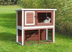 Trixie Rabbit 2 Story Cage Enclosure Roof Hutch Sloped Solid