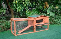 Giant Wood Rabbit Hutch Indoor & Outdoor Bunny Cage Pet Hous