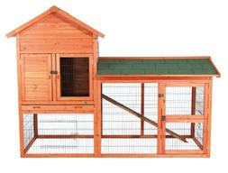 TRIXIE Pet Products Rabbit Hutch with Outdoor Run, 78.25 x 3
