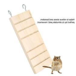 Rack Toy Wood Ladder Platform Pet Parrot Hamster Branch Perc