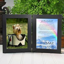 Rainbow Bridge Poem Personalized Pet Memorial Double Picture