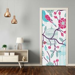 Removable Home Decor Door Wall Sticker Self Adhesive Animals