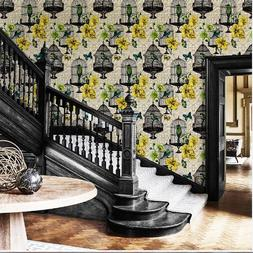 Retro American Wallpaper Pastoral Style Flower And <font><b>