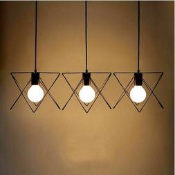 Retro Industrial Metal Iron Bird Cage Ceiling Light Hanging