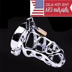 Ring Design Stainless Steel Bird Cage Male Chastity Belt Dev