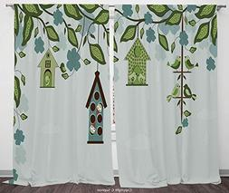 Rod Pocket Curtain Panel Polyester Translucent Curtains for