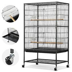 """Yaheetech 52"""" Rolling Extra Large Bird Cage for African Grey"""