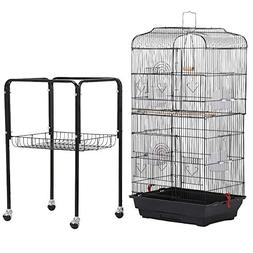 "Yaheetech 36"" Rolling Bird Cage for Small Parrots Cockatiels"