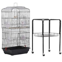 Rolling Bird Cage Stand Bird Cage With Stand Cockatiel Vinta