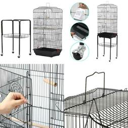 Yaheetech Rolling Mid-Sized Parrot Bird Cage Cockatiel Conur