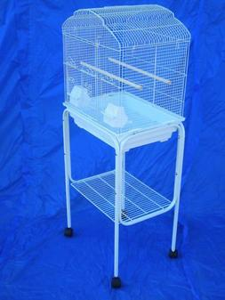 """Rolling Stand For 18"""" x 14"""" or 18"""" x 18"""" Bird Cage  White"""