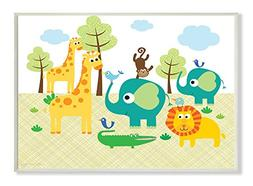 Stupell Industries The Kids Room Jungle Animals Wall Plaque
