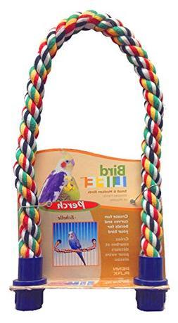 "Penn-Plax  Rope Perch - Small Bird - 21"" x 5/8"" Diameter"