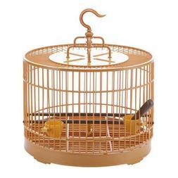 Round Bird Cage with Feeder Plastic Bird House Cage Bird Car