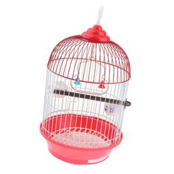 Round Birdcages Metal Wall Hanging Bird Cage for Small Birds