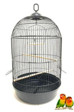 Round Dome Hook Cage Bird Flight LoveBirds Finch Canary Cock