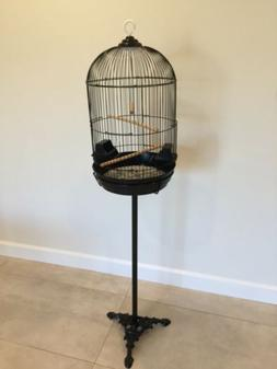 Round Dome Top Bird Cage With Stand BRAND NEW