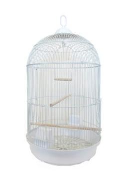 YML Round Tall Cage, White