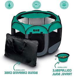 Ruff 'n Ruffus Portable Foldable Pet Playpen + Carrying Case