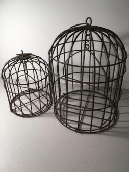 Rustic - Metal Wire Bird Cage Garden Decor.  - New.