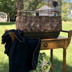 Handmade Rustic Pinecone Fabric Bird Cage Skirt Seed Catcher