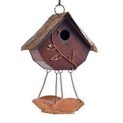 Glitzhome Rustic Wooden Decorative Bird House Garden Decor 1