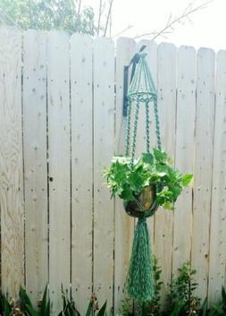 "SALE! Large Macrame Hanger~Rich Sage Green-Bird Cage Top~54"""